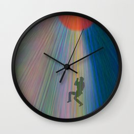 reach out and be free Wall Clock
