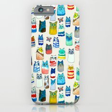 Lots of Watercolor Kitty Cats iPhone 6 Slim Case