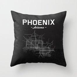 Phoenix, Arizona - b/w Throw Pillow