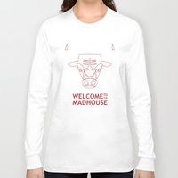 chicago bulls Long Sleeve T-shirts featuring Madhouse Chicago Bulls by beejammerican