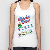 mario bros Tank Tops featuring Super Mario Bros Plumbing by brit eddy