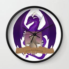 Clan Lochguard Purple Dragon Crest Wall Clock
