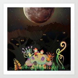 Mini Shrooms Art Print