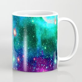 purple pink blue nebula Coffee Mug