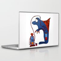 dolphin Laptop & iPad Skins featuring Dolphin by JBLITTLEMONSTERS