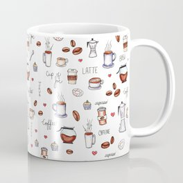 Coffee Pattern Coffee Mug