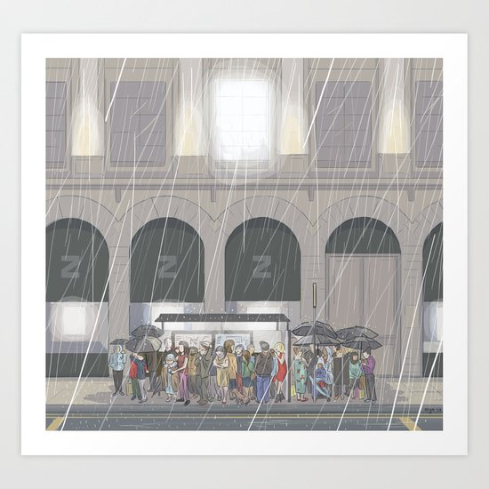 Summer in London Art Print