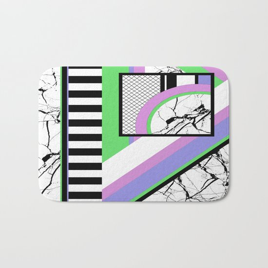 AMPS Deux - Abstract, Marble, Pastel, Stripes Bath Mat