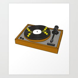 Vinyl Turntable Gift Idea Art Print
