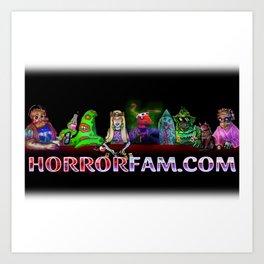 HorrorFam.com Monster Fam Art Print