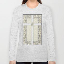 Lace Cross Long Sleeve T-shirt