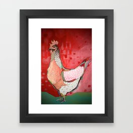 Little Red Hen Framed Art Print