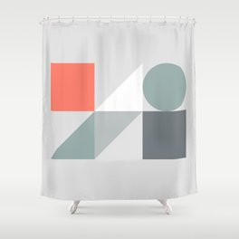 Mid Century Modern Geometric 01 Shower Curtain