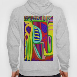 Abstract flower and shapes Hoody