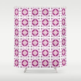 Flamingo Talavera Tiles Shower Curtain