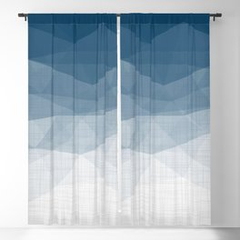 Imperial Topaz - Geometric Triangles Minimalism Blackout Curtain