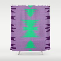 indian Shower Curtains featuring Indian by Logan David