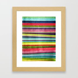 Abstract Stripes Framed Art Print