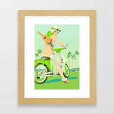 Ukulele Girl Framed Art Print