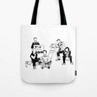 the neighbourhood Tote Bags featuring The neighbourhood: band  by artbysteph