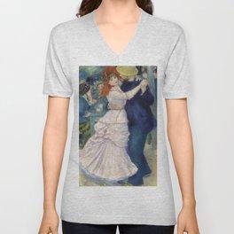 Pierre-Auguste Renoir - Dance at Bougival Unisex V-Neck