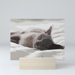 Let me sleep Mini Art Print