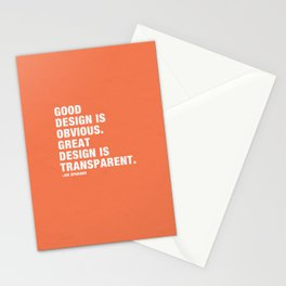 Good design is obvious. Great design is transparent. Stationery Cards