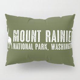 Deer: Mount Rainier, Washington Pillow Sham