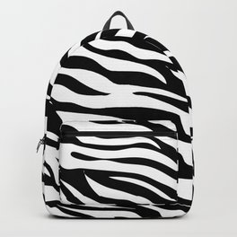 modern safari animal print black and white zebra stripes Backpack