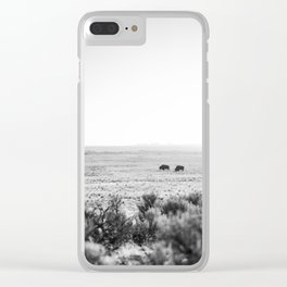 Roaming Bison Clear iPhone Case