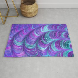 Jewel Tone Abstract Rug