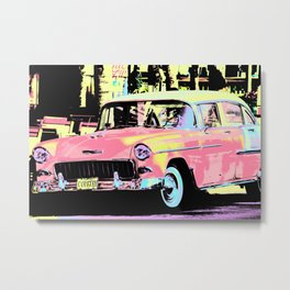 Cuban Classic Car Metal Print
