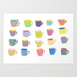 Crazy Cups Art Print