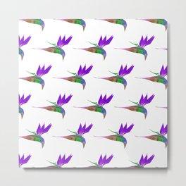 Birds of Paradise - Purple Metal Print