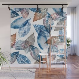 Watercolor Leaves Wall Mural