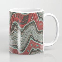 Red gray mosaic Coffee Mug