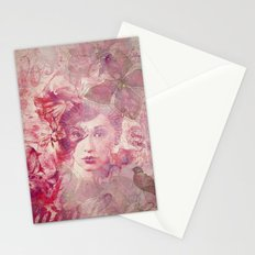 Lost Moments woman romantic illustration Stationery Cards