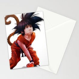 kid goku Stationery Cards