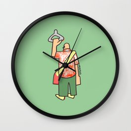 a man going to work to fill up the voids Wall Clock