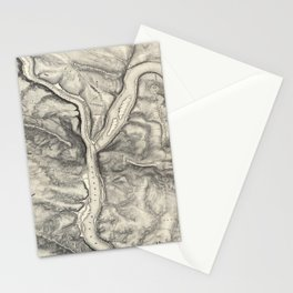 Vintage Map of Harpers Ferry (1863) Stationery Cards
