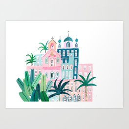 Moroccan houses Art Print