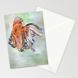 Cartoon Style Ryukin Goldfish Stationery Cards
