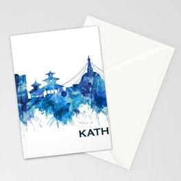 Kathmandu Nepal Skyline Blue Stationery Cards