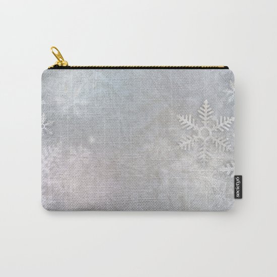 Snowflakes winter frozen freeze Carry-All Pouch