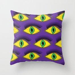 Creepy Eyes Throw Pillow