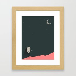 No Face and The Moon Framed Art Print