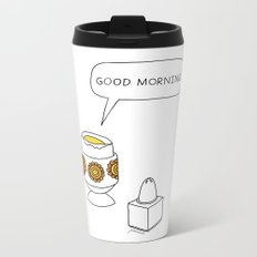eggs for breakfast Metal Travel Mug