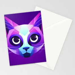 Neon Cat Stationery Cards