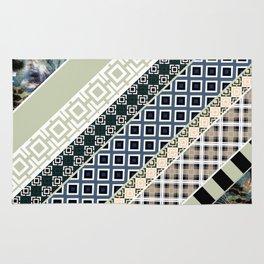 Folk textiles , patchwork Rug