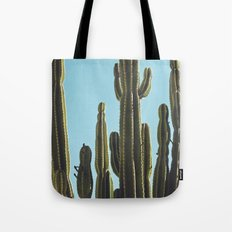 At the Cactus Garden Tote Bag